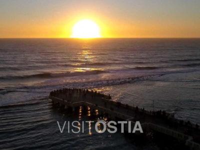 VisitOstia - tramonto al Pontile