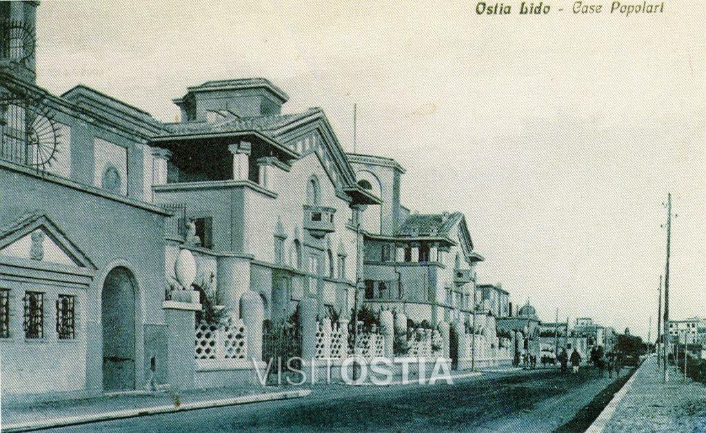 VisitOstia - complesso dell'Istituto Case Popolari, il fronte su corso Duca di Genova (anni '20)