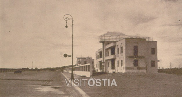 VisitOstia - palazzine INCIS, veduta del fronte sul lungomare Duilio (anni '30)