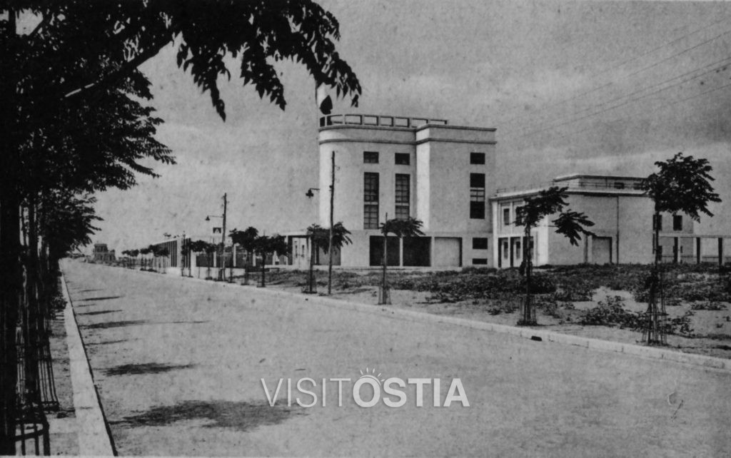 VisitOstia - ONB, veduta del fronte su corso Duca di Genova (anni '30)