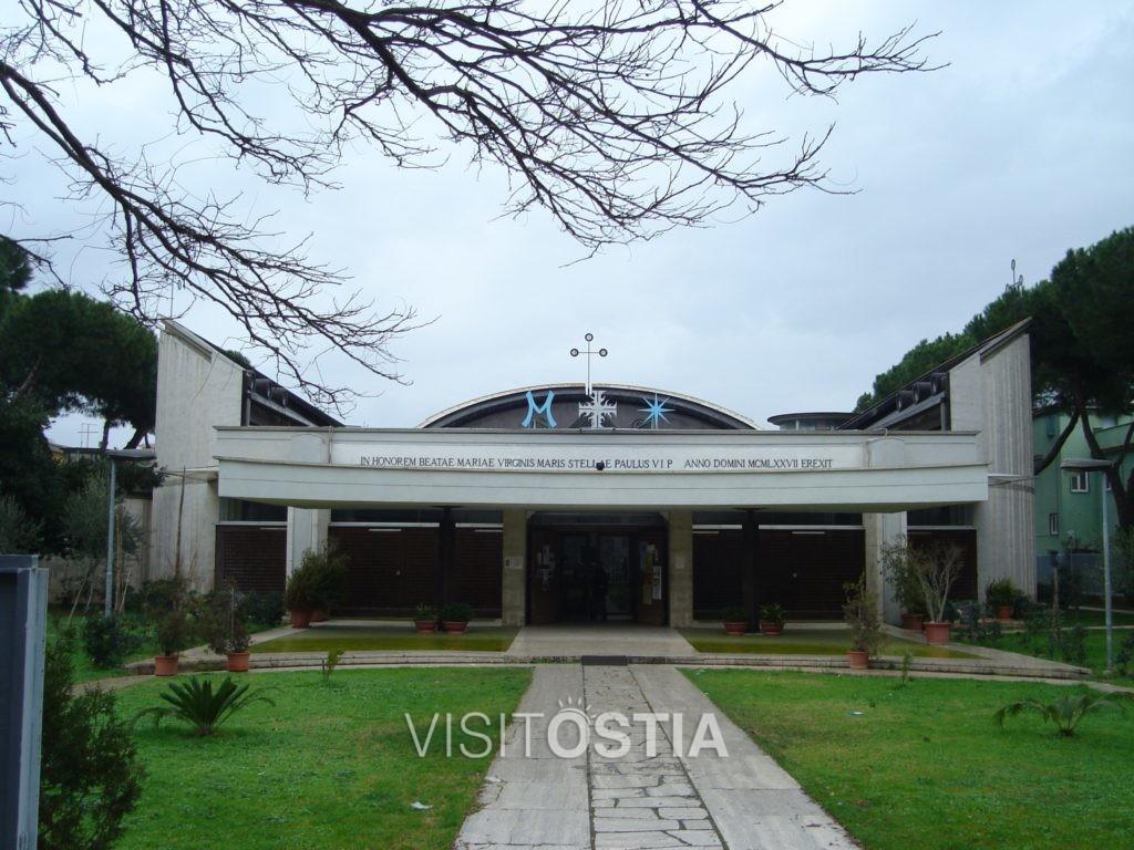 VisitOstia - Chiesa di Santa Maria Stella Maris, veduta del fronte su via dei Promontori