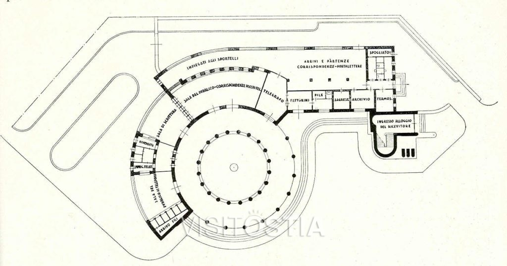 VisitOstia - Ufficio Postale, planimetria generale