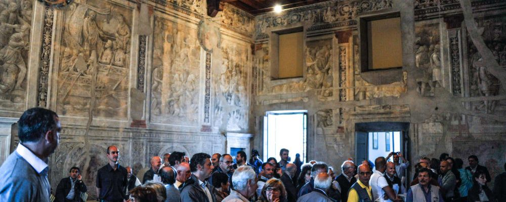 The Episcopio and the frescoes by Baldassarre Peruzzi in the village of Ostia Antica