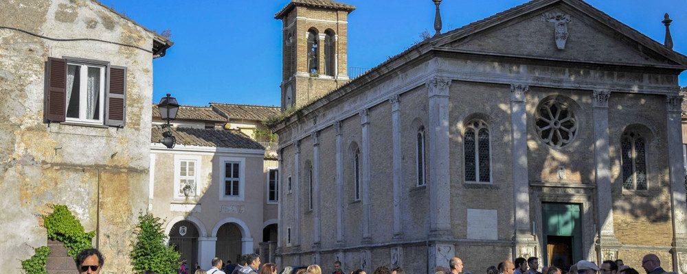 The church of St. Aurea in the village of Ostia Antica