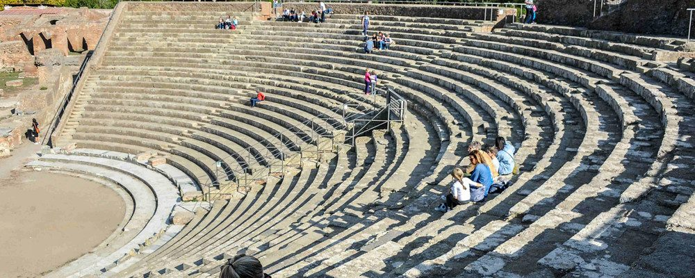 Ostia Antica: the ruins, Roman theater and the castle of Julius II